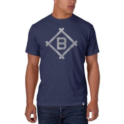 Brooklyn Dodgers Men's 47 Brand Blue Scrum T-Shirt Tee