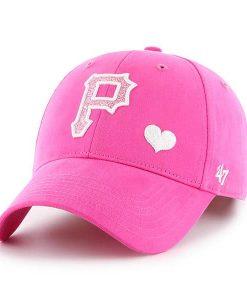 Pittsburgh Pirates 47 Brand Bright Pink Girls KIDS Adjustable Hat