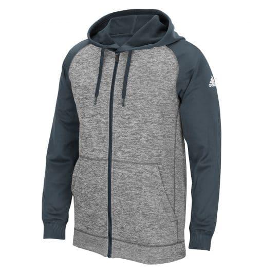 Men's Adidas Gray Heathered Onix Tech Fleece Full Zip Hoodie