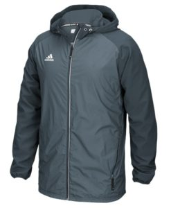 Men's Adidas Gray Onix Full Zip Hooded Jacket