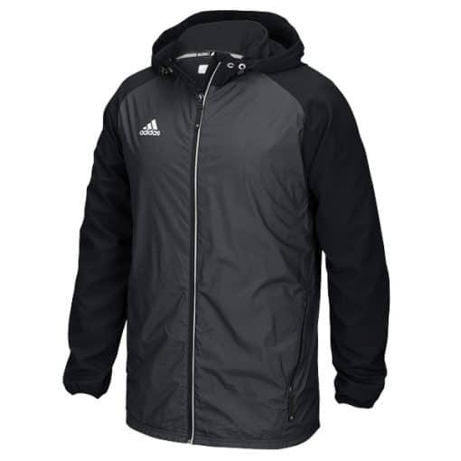 Men's Adidas Black Varsity Full Zip Hooded Jacket