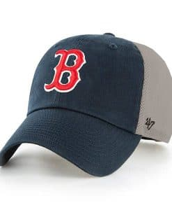 Boston Red Sox 47 Brand Navy Natural Mesh Clean Up Adjustable Hat