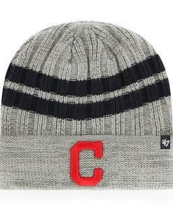Cleveland Indians 47 Brand Gray Permafrost Cuff Knit Hat