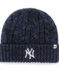 New York Yankees Women's 47 Brand Prima Navy Cuff Knit Hat