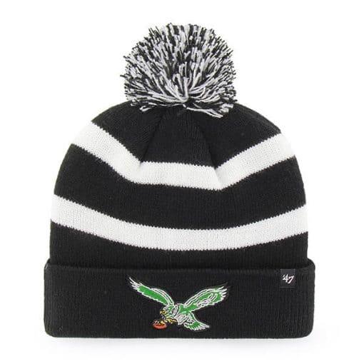 Philadelphia Eagles 47 Brand Classic Black Breakaway Cuff Knit Hat