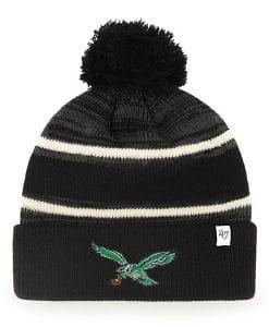 Philadelphia Eagles 47 Brand Classic Black Fairfax Cuff Knit Hat