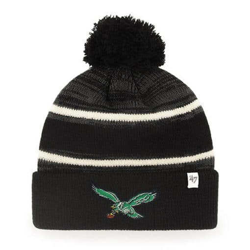 Philadelphia Eagles 47 Brand Classic Black Fairfax Cuff Knit Hat