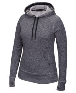 Women's Adidas Black Heathered Tech Fleece Pullover Hoodie