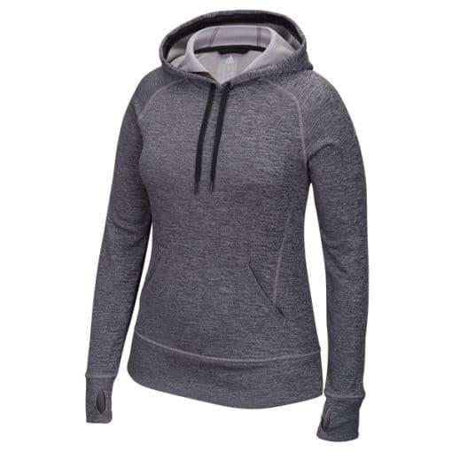 Women's Adidas Black Heathered Tech Fleece Pullover Hoodie