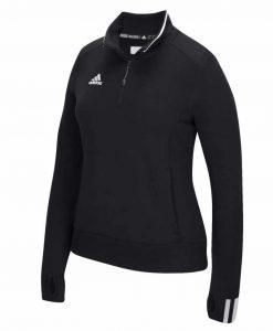 Women's Adidas Black Climalite 1/4 Zip Pullover