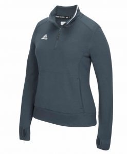 Women's Adidas Gray Climalite 1/4 Zip Pullover