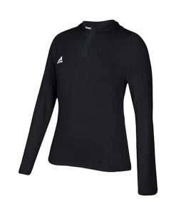 Women's Adidas Black Training 1/4 Zip Hoodie Pullover
