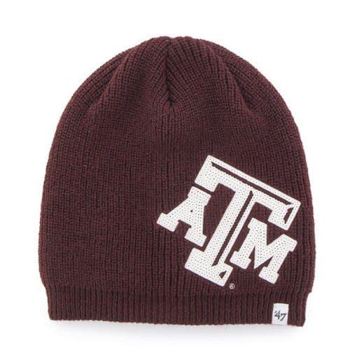 Texas A&M Aggies Women's 47 Brand Sparkle Dark Maroon Beanie Hat