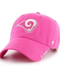 Los Angeles Rams Women's 47 Brand Pink Clean Up Hat