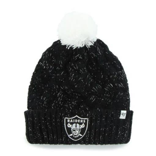 Oakland Raiders 47 Brand Women's Black Fiona Cuff Knit Hat