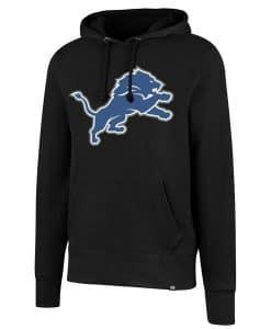 Detroit Lions 47 Brand Men's Headline Black Hoodie