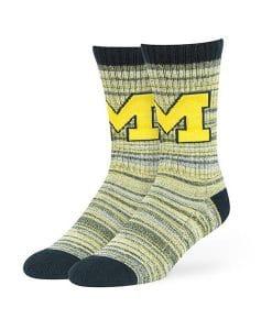 Michigan Wolverines 47 Brand Women's Sport Sock Crew Socks
