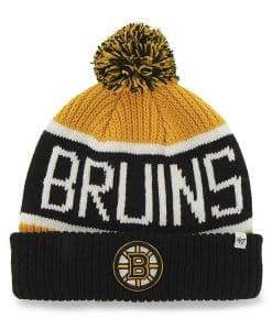 Boston Bruins 47 Brand Calgary Cuff Knit Gold Hat