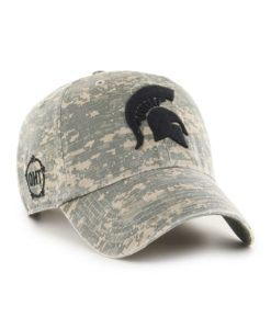 Michigan State Spartans 47 Brand Digital Camo Clean Up Hat