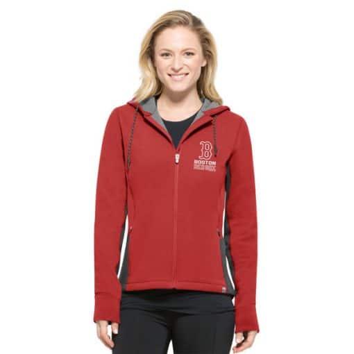 Boston Red Sox Women's 47 Brand Red Compete Full Zip Hoodie