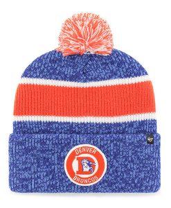 Denver Broncos 47 Brand Vintage Legacy Blue Cuff Knit Hat