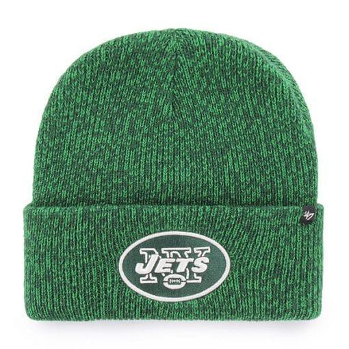 New York Jets Brain Freeze Cuff Knit Green 47 Brand Hat