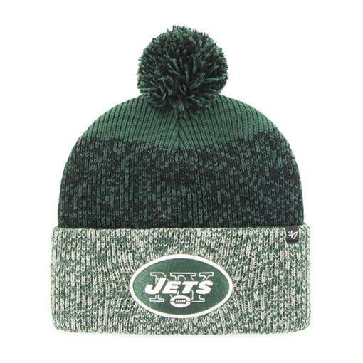New York Jets 47 Brand Green Static Cuff Knit Hat