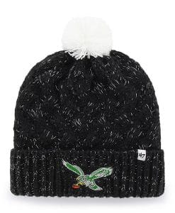 Philadelphia Eagles 47 Brand INFANT Classic Black Fiona Cuff Knit Hat