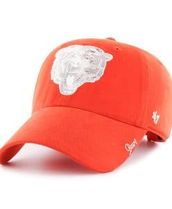 Chicago Bears 47 Brand Sparkle Women's Orange Clean Up Hat