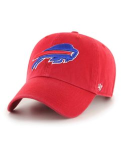 Buffalo Bills 47 Brand Red Clean Up Adjustable Hat