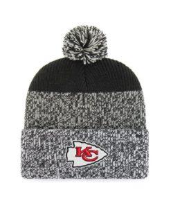 Kansas City Chiefs 47 Brand Black Static Cuff Knit Hat
