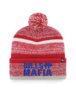 Buffalo Bills 47 Brand Mafia Classic Red Cuff Knit Hat