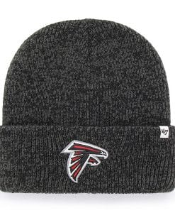 Atlanta Falcons 47 Brand Black Brain Freeze Cuff Knit Hat