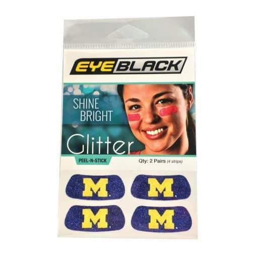 Michigan Wolverines Navy Temporary Tattoo Glitter