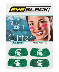 Michigan State Spartans Green Temporary Tattoo Glitter