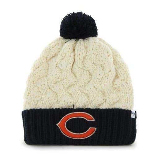 Chicago Bears Women's 47 Brand Natural Matterhorn Cuff Knit Hat
