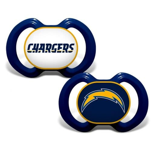Los Angeles Chargers Blue Pacifier 2 Pack