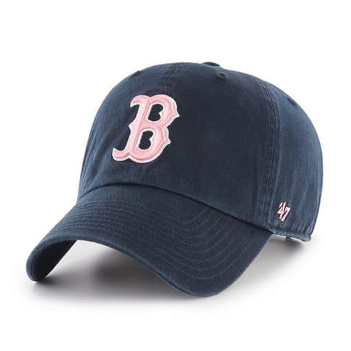 Boston Red Sox Women's 47 Brand Pink Navy Clean Up Adjustable Hat