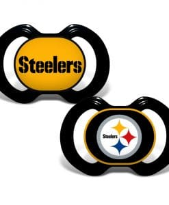 Pittsburgh Steelers Black Pacifier 2 Pack