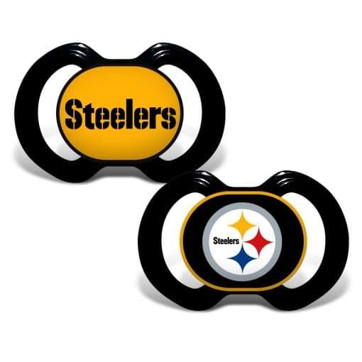 Pittsburgh Steelers Black Pacifier 2 Pack