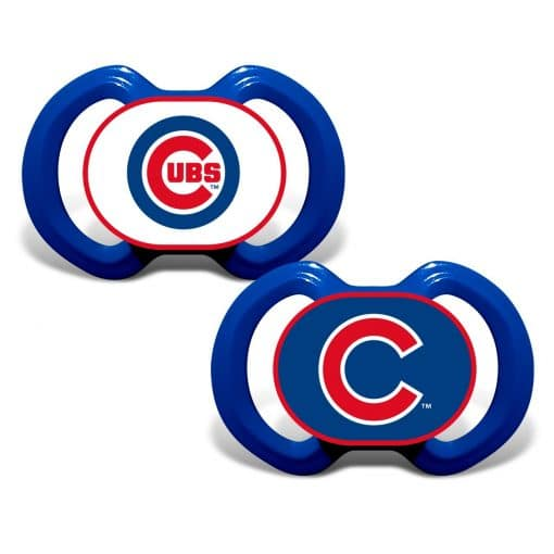 Chicago Cubs Blue Pacifier 2 Pack