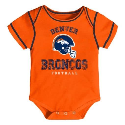 Denver Broncos Football Baby Orange Onesie Creeper