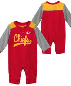 Kansas City Chiefs Baby Red Scrimmage Long Sleeve Coverall