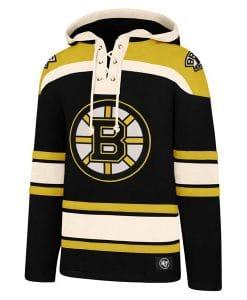 Boston Bruins Men's 47 Brand Black Pullover Jersey Hoodie