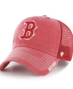 Boston Red Sox 47 Brand Red Burnstead Mesh Adjustable Hat