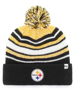 Pittsburgh Steelers YOUTH 47 Brand Black Bubbler Cuff Knit Hat