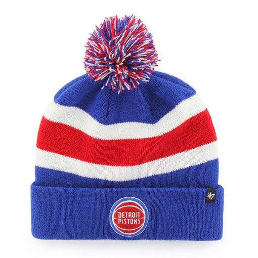Detroit Pistons 47 Brand Royal Breakaway Cuff Knit Hat