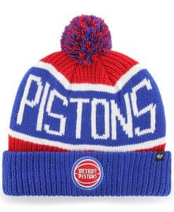 Detroit Pistons 47 Brand Red Blue Calgary Cuff Knit Hat