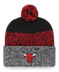 Chicago Bulls 47 Brand Static Black Cuff Knit Hat