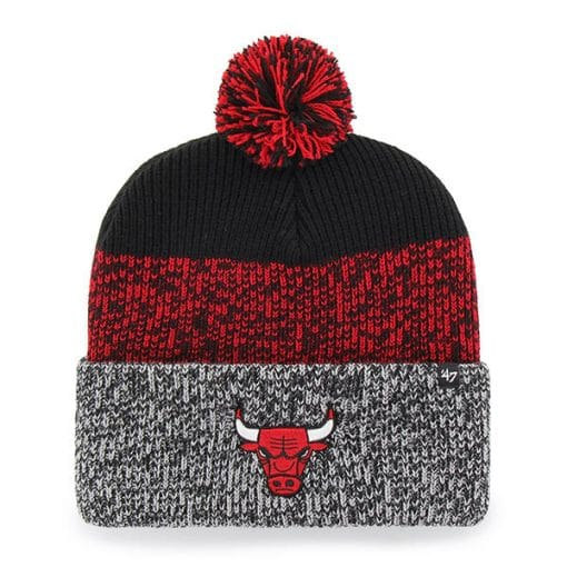 Chicago Bulls 47 Brand Static Black Cuff Knit Hat